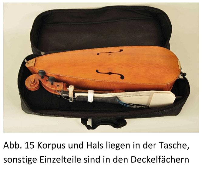 Reise-Cello in der Transporttasche
