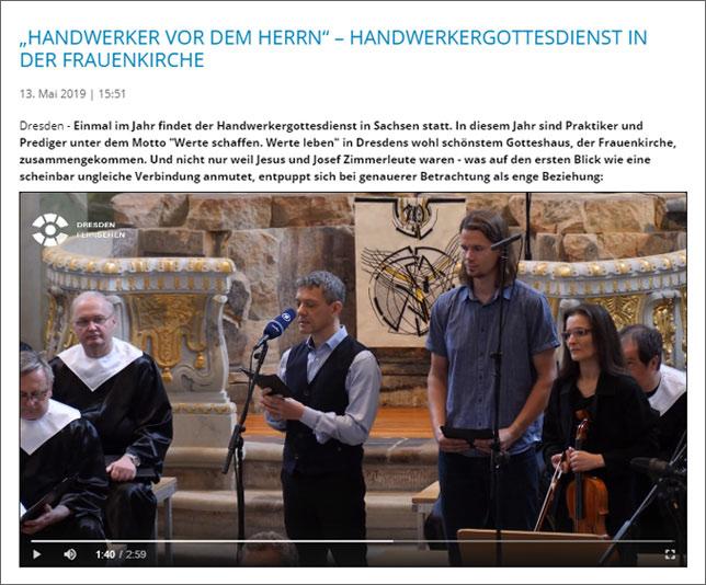 Handwerkergottesdienst in der Frauenkirche